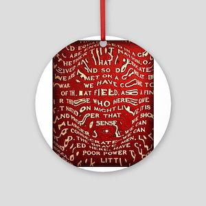 Gettysburg Address Ornament (Round)