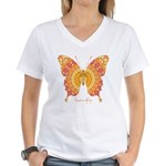 Romance Butterfly Women's V-Neck T-Shirt