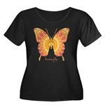 Romance Butterfly Women's Plus Size Scoop Neck Dar