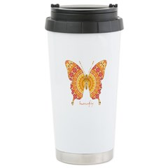 Romance Butterfly Stainless Steel Travel Mug