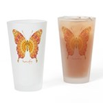 Romance Butterfly Drinking Glass