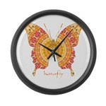 Romance Butterfly Large Wall Clock