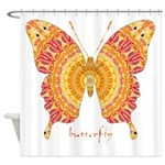 Romance Butterfly Shower Curtain