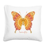 Romance Butterfly Square Canvas Pillow