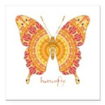 Romance Butterfly Square Car Magnet 3