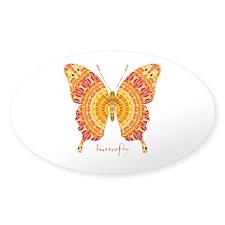 Romance Butterfly Sticker (Oval)