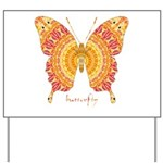 Romance Butterfly Yard Sign