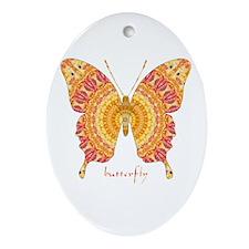 Romance Butterfly Ornament (Oval)