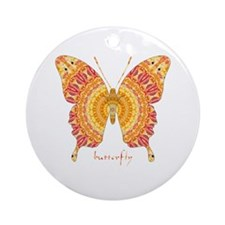 Romance Butterfly Ornament (Round)