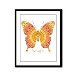 Romance Butterfly Framed Panel Print