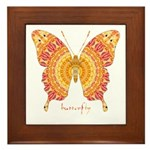 Romance Butterfly Framed Tile