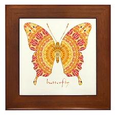 Romance Butterfly Framed Tile