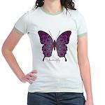 Centering Butterfly Jr. Ringer T-Shirt