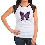 Centering Butterfly Women's Cap Sleeve T-Shirt