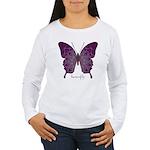Centering Butterfly Women's Long Sleeve T-Shirt
