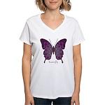 Centering Butterfly Women's V-Neck T-Shirt