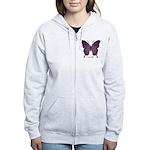 Centering Butterfly Women's Zip Hoodie
