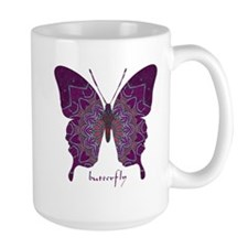 Centering Butterfly Large Mug