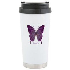 Centering Butterfly Stainless Steel Travel Mug