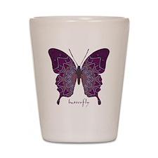 Centering Butterfly Shot Glass