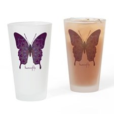 Centering Butterfly Drinking Glass