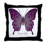 Centering Butterfly Throw Pillow