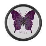 Centering Butterfly Large Wall Clock