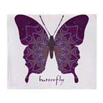 Centering Butterfly Throw Blanket
