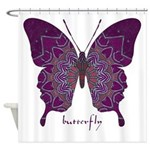 Centering Butterfly Shower Curtain