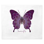 Centering Butterfly King Duvet