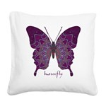 Centering Butterfly Square Canvas Pillow