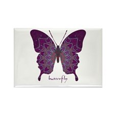 Centering Butterfly Rectangle Magnet