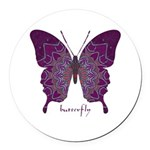 Centering Butterfly Round Car Magnet