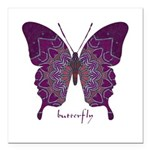 Centering Butterfly Square Car Magnet 3