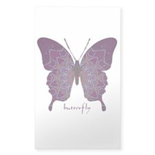 Centering Butterfly Sticker (Rectangle)