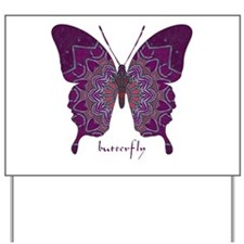 Centering Butterfly Yard Sign