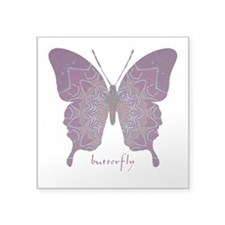 Centering Butterfly Square Sticker 3