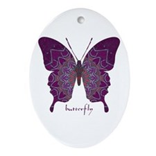 Centering Butterfly Ornament (Oval)