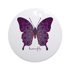 Centering Butterfly Ornament (Round)