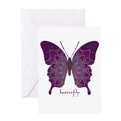 Centering Butterfly Greeting Card