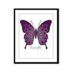 Centering Butterfly Framed Panel Print