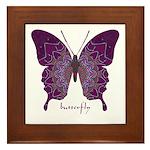 Centering Butterfly Framed Tile