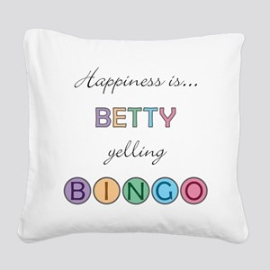 Betty Square Canvas Pillow