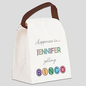 Jennifer Canvas Lunch Bag