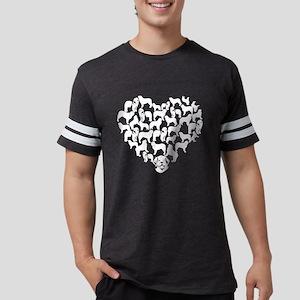 Leonberger Heart T-shirt Mens Football Shirt