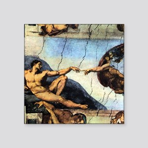 "Michelangelo Creation Of Adam Square Sticker 3"" x"