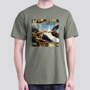 Michelangelo Creation Of Adam Dark T-Shirt