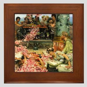 Alma-Tadema The Roses Framed Tile