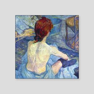 Toulouse-Lautrec Rousse (High Res) Square Sticker