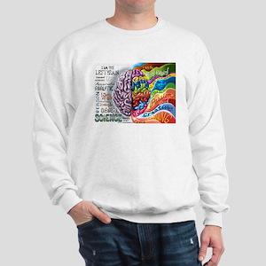 Left Brain Right Brain Cartoon Poster Sweatshirt